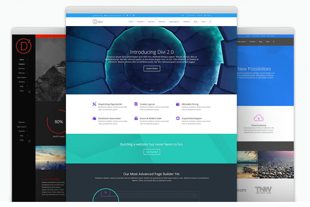 Divi web builder