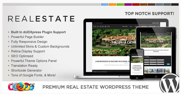 TOP 7 WordPress šablón pre realitný trh